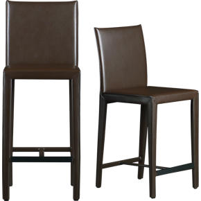 Folio Chocolate Leather Barstools
