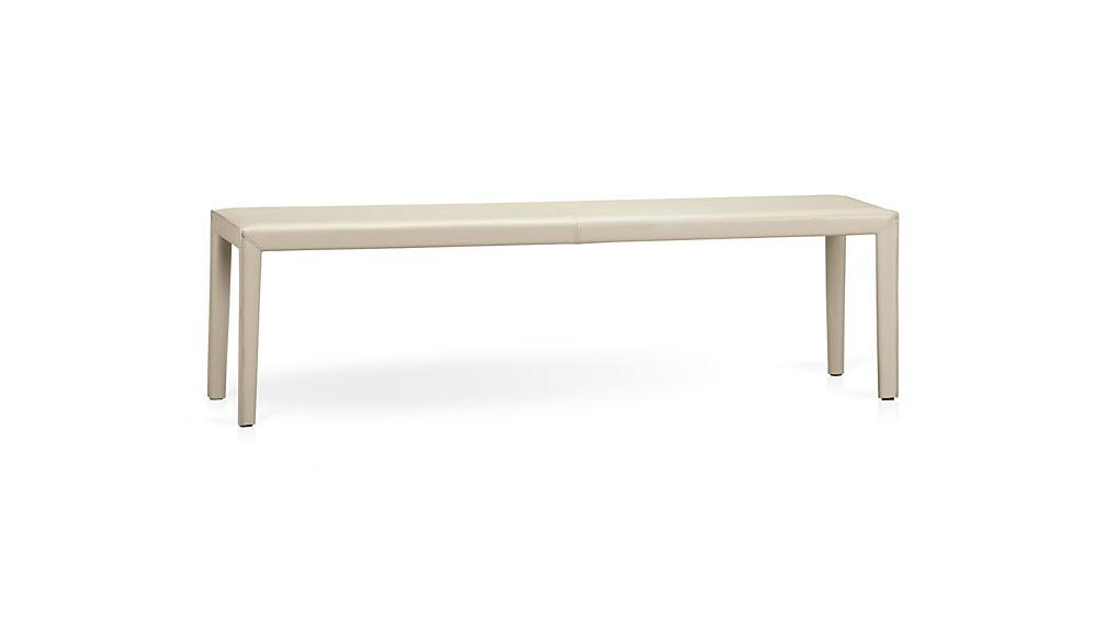 "Folio 64"" Bonded Leather Bench"