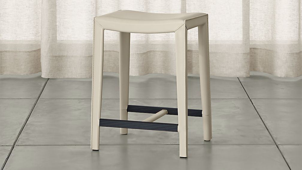 Folio Bonded Leather Backless Counter Stool