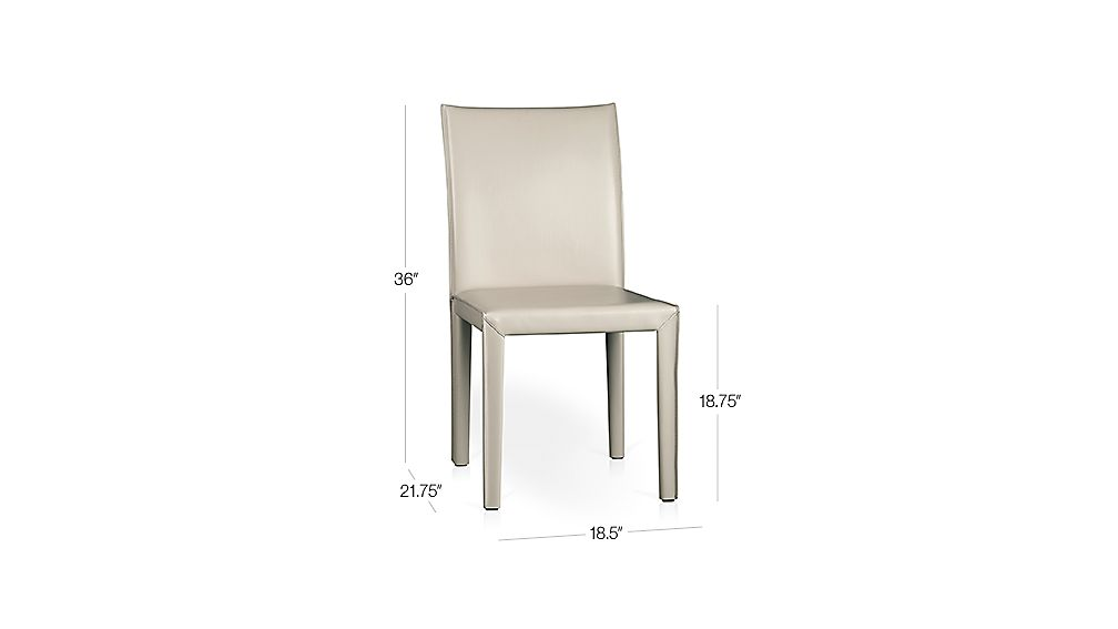 Folio Oyster Bonded Leather Side Chair Dimensions
