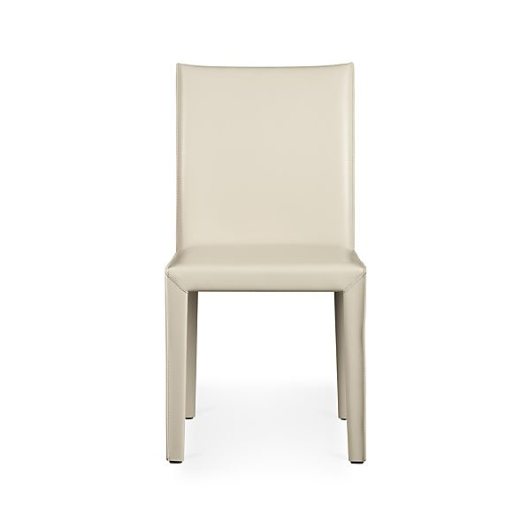 Folio Oyster Bonded Leather Side Chair