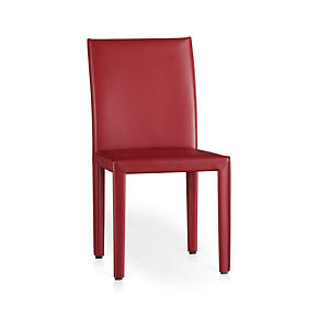 Folio Cherry Leather Side Chair