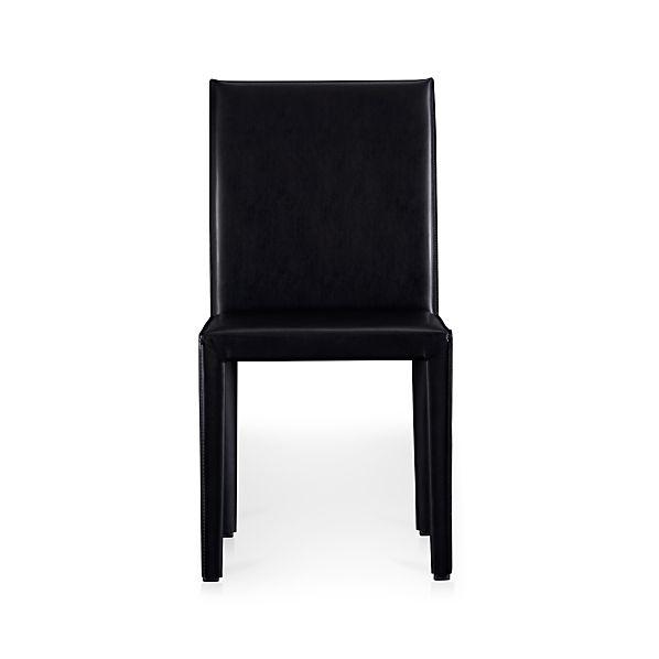 Folio Ebony Bonded Leather Side Chair