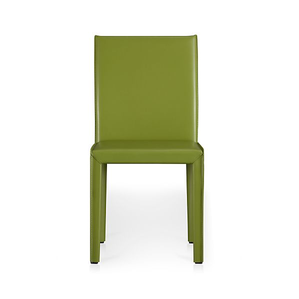 Folio Kiwi Leather Side Chair