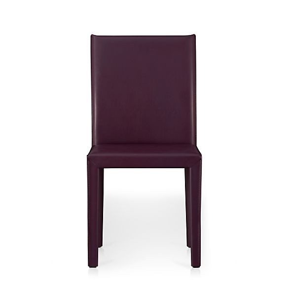Folio Plum Bonded Leather Leather Side Chair