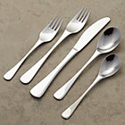 Font 20-Piece Flatware Set: four 5-piece place settings.