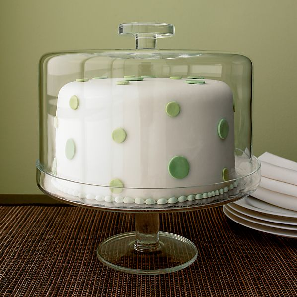 Footed Cake Platter with Dome