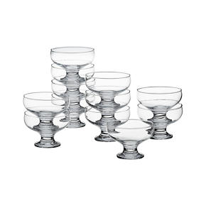 Set of 12 Footed 4.25 Dessert Dishes