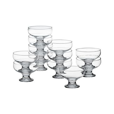 "Set of 12 Footed 4.25"" Dessert Dishes"