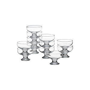 "Footed 4.25"" Dessert Dishes Set of 12"