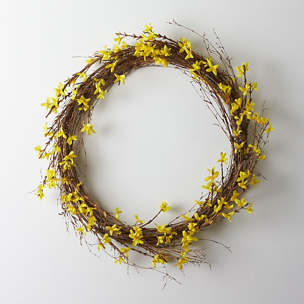 Sale alerts for Crate&Barrel Forsythia Wreath - Covvet