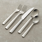 Foster 20-Piece Flatware Set: four 5-piece place settings (salad fork, dinner fork, knife, soup spoon and teaspoon).