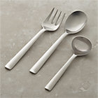 Foster 3-Piece Serving Set: serving fork, serving spoon, gravy ladle.