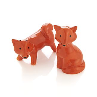 Fox Salt and Pepper Shakers Set of Two