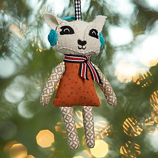 Fox with Earmuffs Ornament