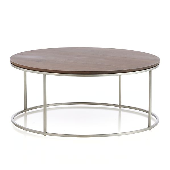 Frame Round Coffee Table In Coffee Tables Side Tables Crate And Barrel