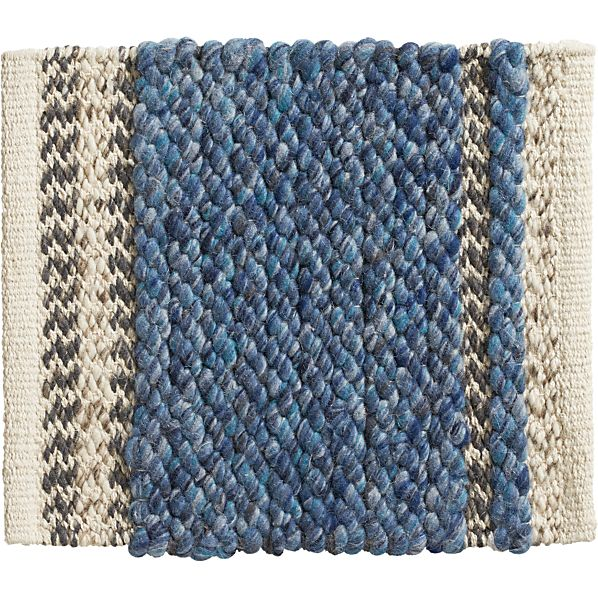 "Fraser Blue 12"" sq. Rug Swatch"