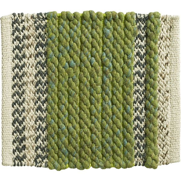 "Fraser Green 12"" sq. Rug Swatch"