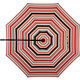 10' Round Sunbrella ® Red Multi Stripe Umbrella Cover