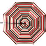 10' Round Sunbrella® Red Multi Stripe Umbrella Cover