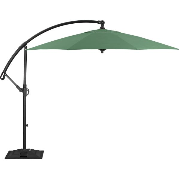 10' Round Sunbrella® Bottle Green Free-Arm Umbrella with Base