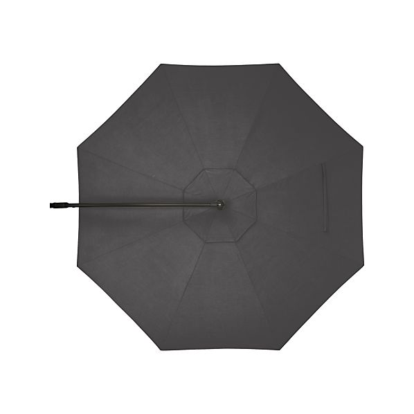 10' Round Sunbrella® Charcoal Free-Arm Umbrella Cover