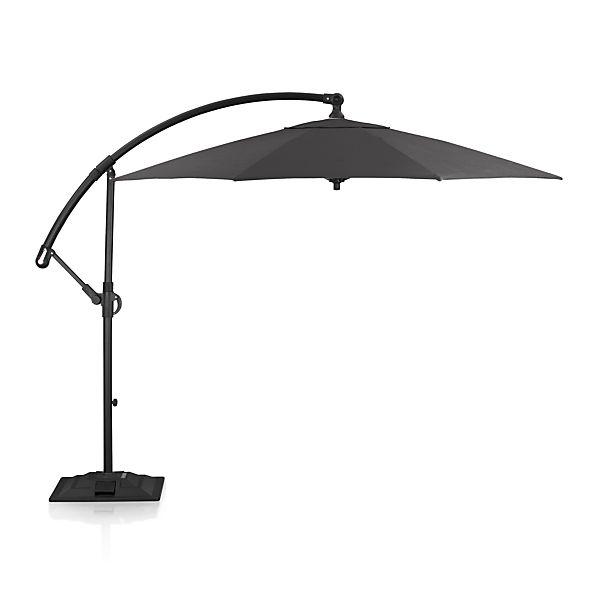 10' Round Sunbrella ® Charcoal Cantilever Umbrella with Base