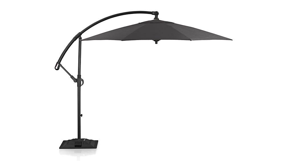 10' Round Black Cantilever Umbrella Frame with Base