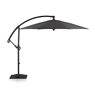 10' Round Sunbrella ® Charcoal Cantilever Umbrella with Base