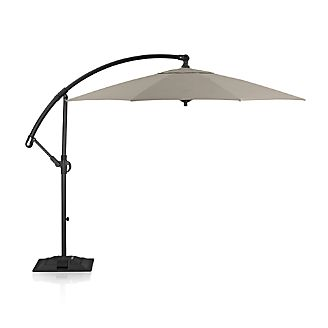 10' Round Sunbrella ® Stone Cantilever Umbrella with Base