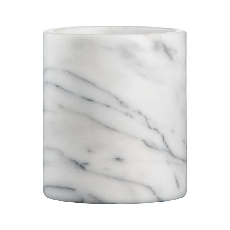 French Kitchen Marble Utensil Crock
