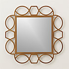 Fretwork Brass Square Wall Mirror.