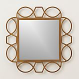 Fretwork Brass Wall Mirror