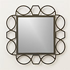 Fretwork Warm Zinc Square Wall Mirror.