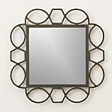 Fretwork Warm Zinc Wall Mirror