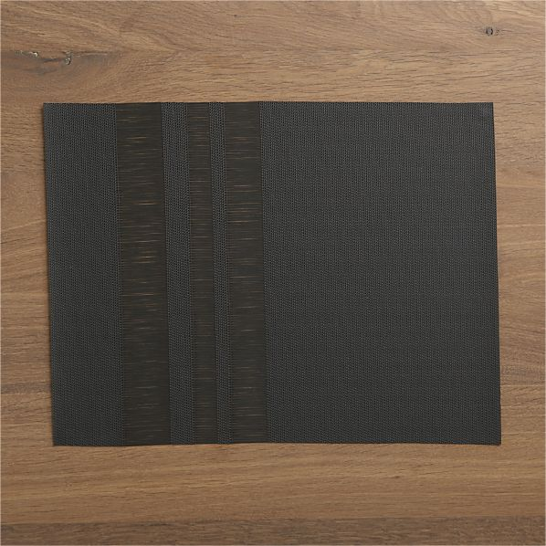 Chilewich® Fringe Stripe Pewter Placemat