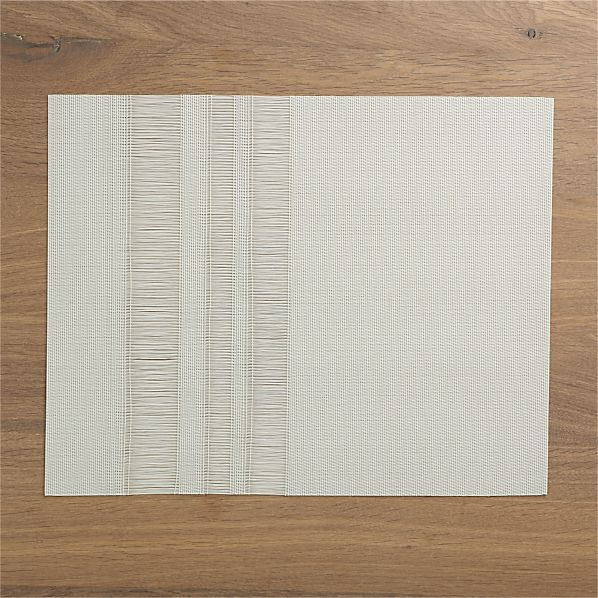 Chilewich® Fringe Stripe Ivory Placemat
