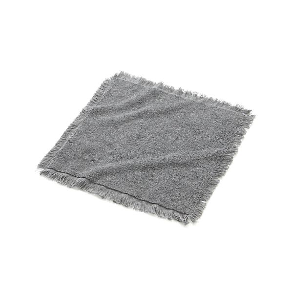 Grey Fringe Washcloth