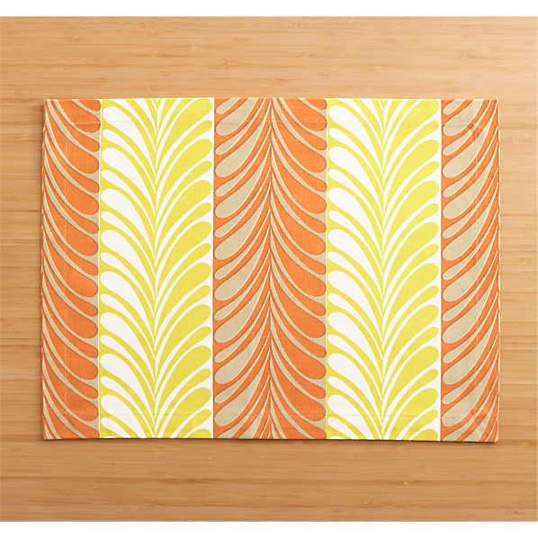 Frolos Orange Placemat