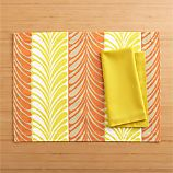 Frolos Orange Placemat and Cotton Yellow Napkin