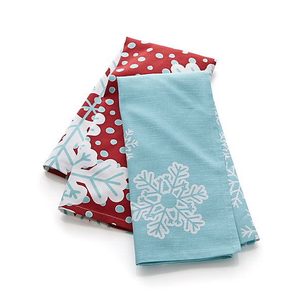 2-Piece Frosty Flurries Dishtowel Set