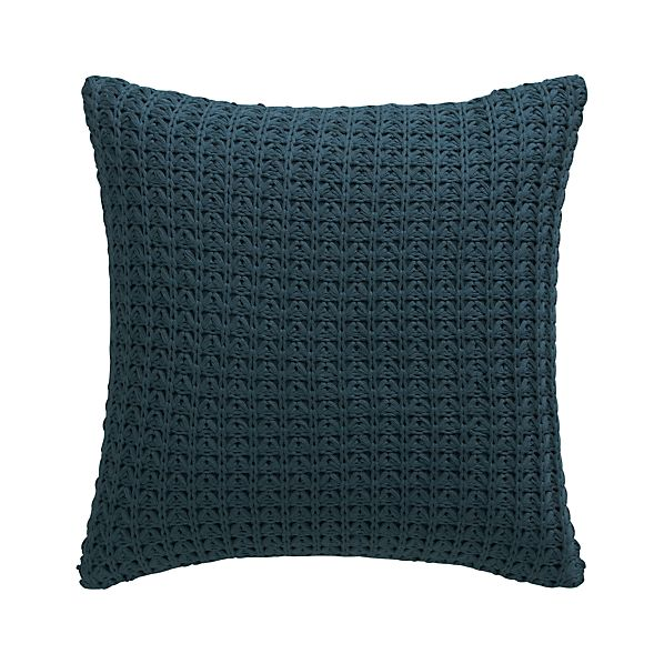 "Fujita Blue 18"" Pillow with Down-Alternative Insert"
