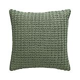"Fujita Sage 18"" Pillow with Down-Alternative Insert"