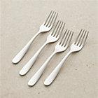 Set of four fusion salad forks.