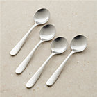 Set of four fusion soup spoons.