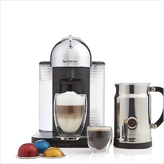Nespresso VertuoLine Chrome Coffee-Espresso Maker Bundle
