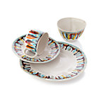 Gallery 4-Piece Place Setting: dinner plate, salad plate, bowl and mug.