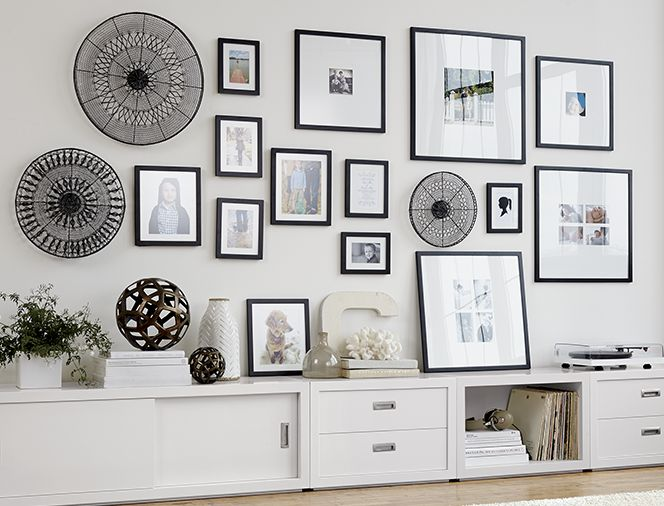 Gallery wall ideas crate and barrel blog crate and barrel for Picture wall layout