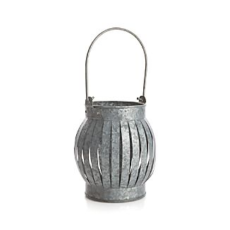 Galvanized Small Lantern