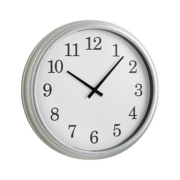 Galvanized Wall Clock